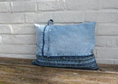 Stoer denim jeans kussen used blue