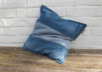 Zacht denim jeans kussen recycled