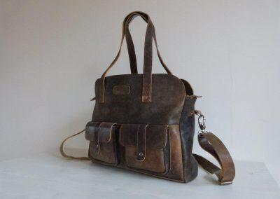 De Lauren-bag: Schoudertas van stoer gerecycled leer