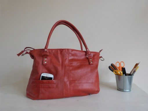 De Jacky-bag: schoudertas van gerecycled jasje