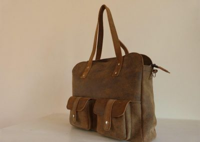 De Lauren-bag: schoudertas van gerecycled leer