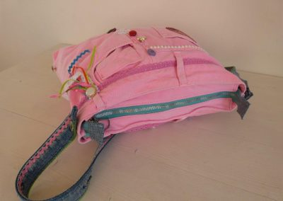 PRoze tas gerecycled jeans ritssluiting