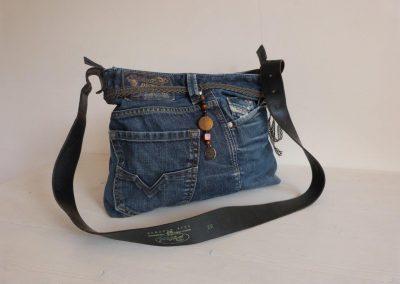 jeanstas zwartleren band 2