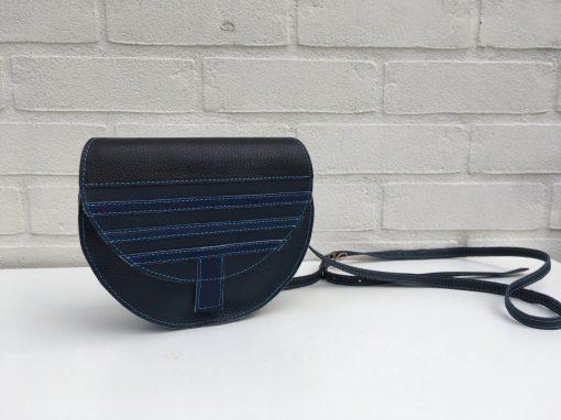 Kleine blauwe crossbody tas
