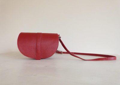 Kleine tas rood handgemaakt lig