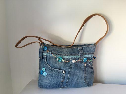 Kindertas van gerecyclede jeans