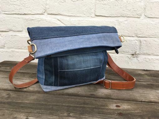 Erica-bag: middelgrote schoudertas met vouwklep
